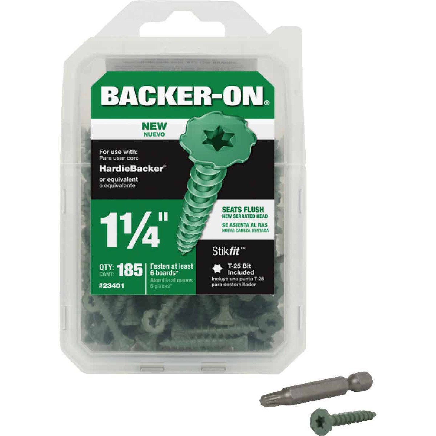 Buildex Backer-On #9 x 1-1/4 In. Cement Board Screw (185 Ct.) Image 1