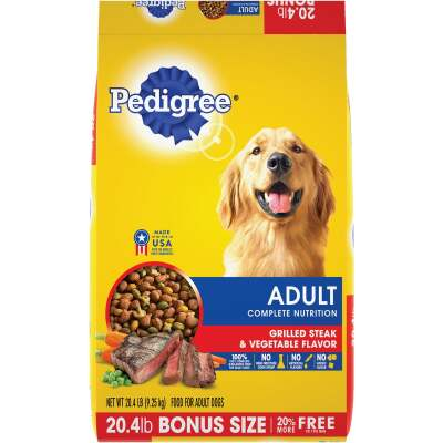 Pedigree Complete Nutrition 20.4 Lb. Grilled Steak & Vegetable Adult Dry Dog Food