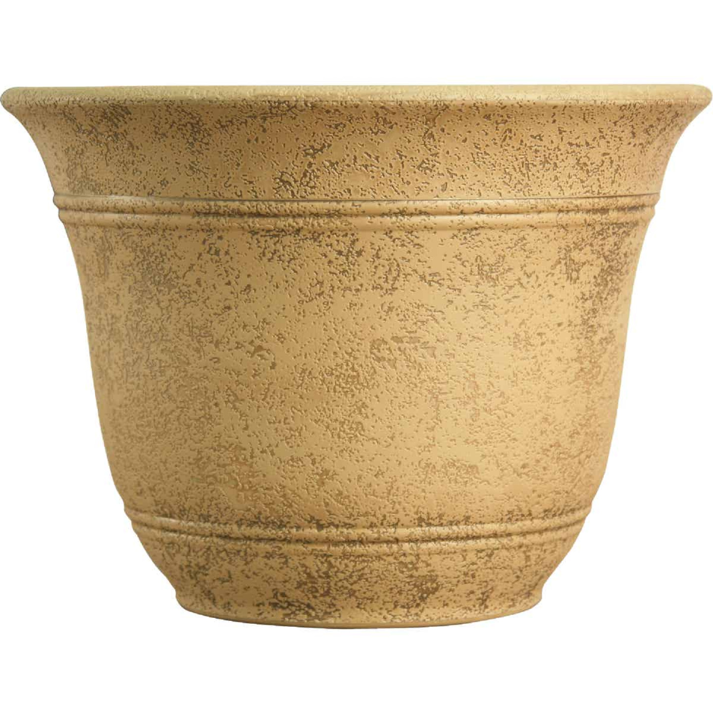 Listo Sierra 11-3/4 In. H. x 16 In. Dia. Arizona Sand Poly Flower Pot Image 1
