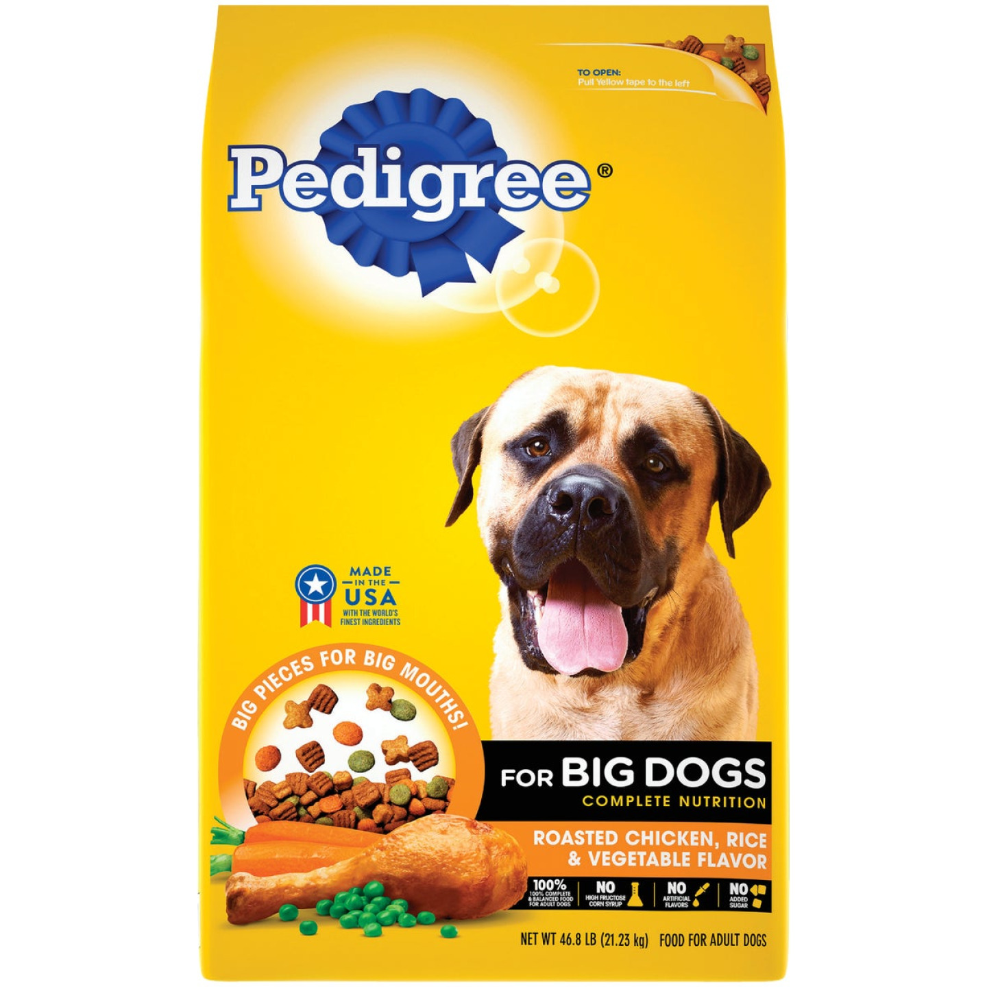 Pedigree Complete Nutrition 46.8 Lb. Roasted Chicken, Rice & Vegetable Large Breed Adult Dry Dog Food Image 1