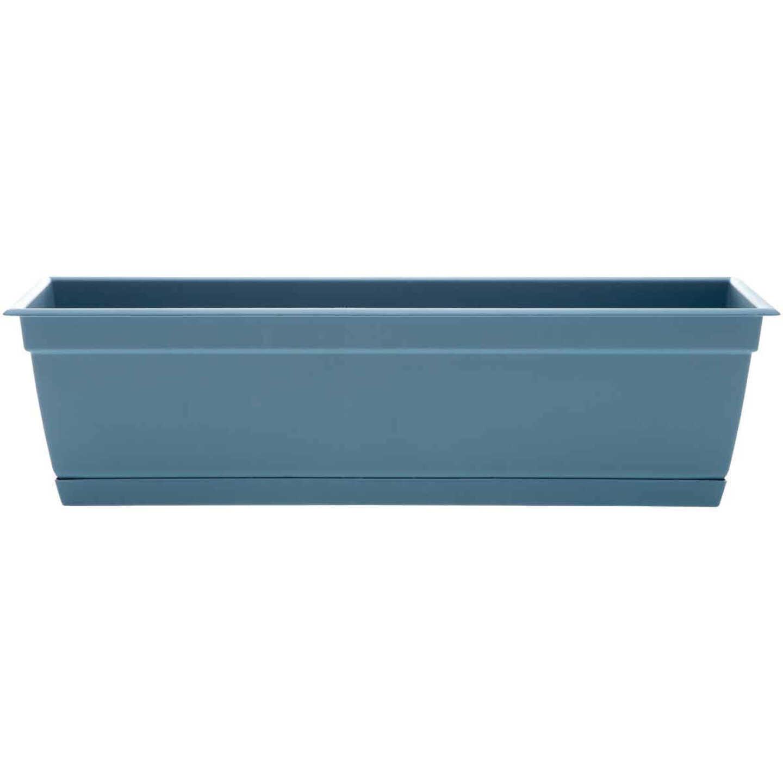 Bloem Ocean Series Dayton 24 In. W. x 6.69 In. H. x 7.75 In. D. Recycled Ocean Plastic Ocean Blue Window Box Image 1