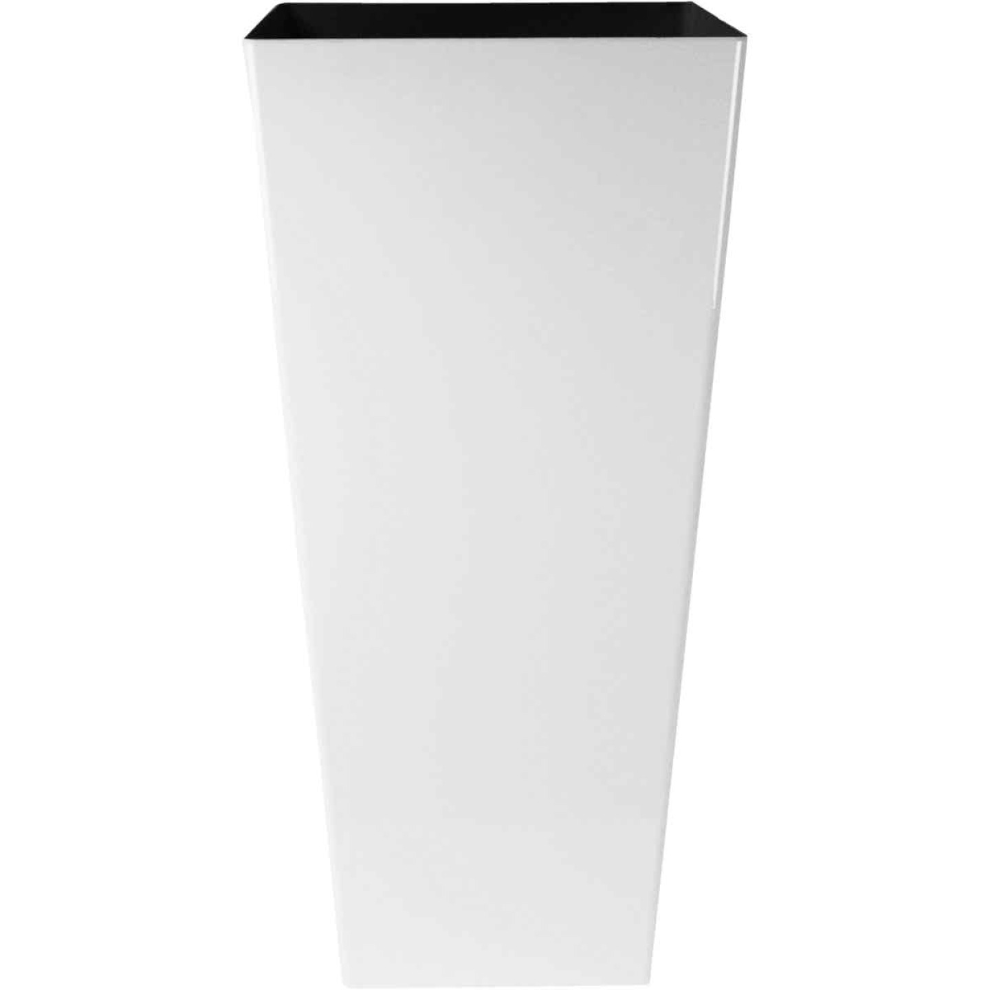 Myers Cascade 12 In. Glossy White Square Planter Image 1