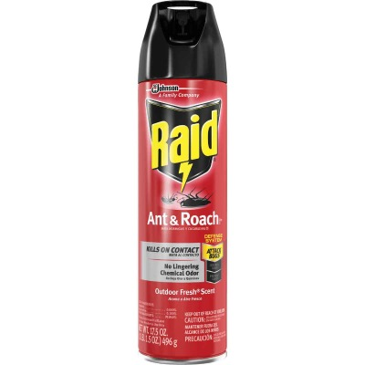 Raid 17.5 Oz. Outdoor Fresh Scent Aerosol Spray Ant & Roach Killer