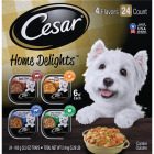 Cesar Home Delights Beef Stew/Hearty Chicken & Noodle/Pot Roast with Spring Vegetables/Turkey, Green Beans, & Potatoes Variety Adult Wet Dog Food (24-Pack) Image 1