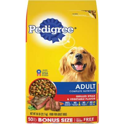 Pedigree Complete Nutrition 50 Lb. Grilled Steak & Vegetable Adult Dry Dog Food