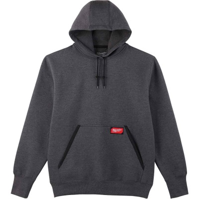 Milwaukee XL Gray Heavy-Duty Pullover Hooded Sweatshirt