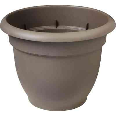 Bloem Ariana 13.75 In. H. x 16 In. Dia. Plastic Self Watering Charcoal Planter