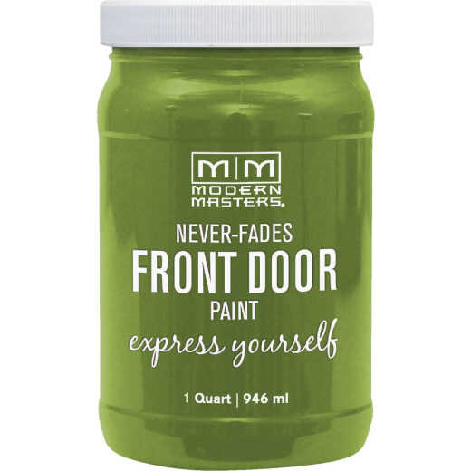 Modern Masters Acrylic Satin Front Door Paint, Fortunate, 1 Qt.