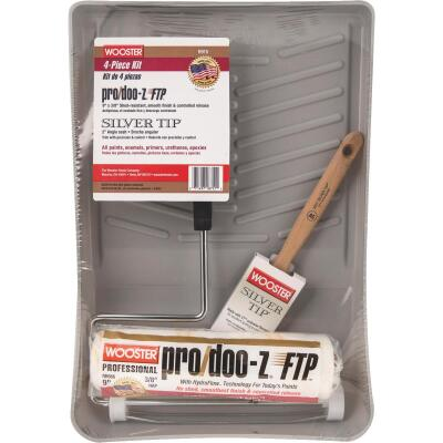 Wooster Pro/Doo-Z FTP & Silver Tip Roller & Tray Set (4-Piece)