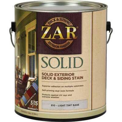 ZAR Solid Deck & Siding Stain, Light Tint Base, 1 Gal.