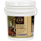 ZAR Solid Deck & Siding Stain, Dark Tint Base, 5 Gal. Image 1