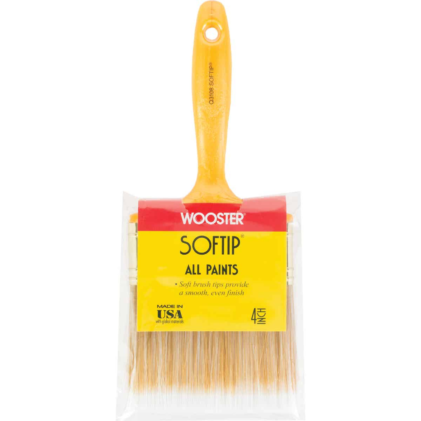 Wooster Softip 4 In. Flat Wall Paint Brush Image 1