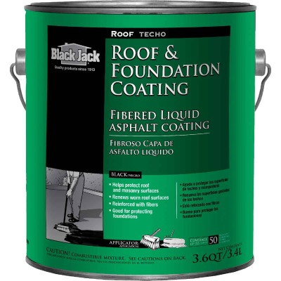 Black Jack 1 Gal. Fibered Roof and Foundation Coating