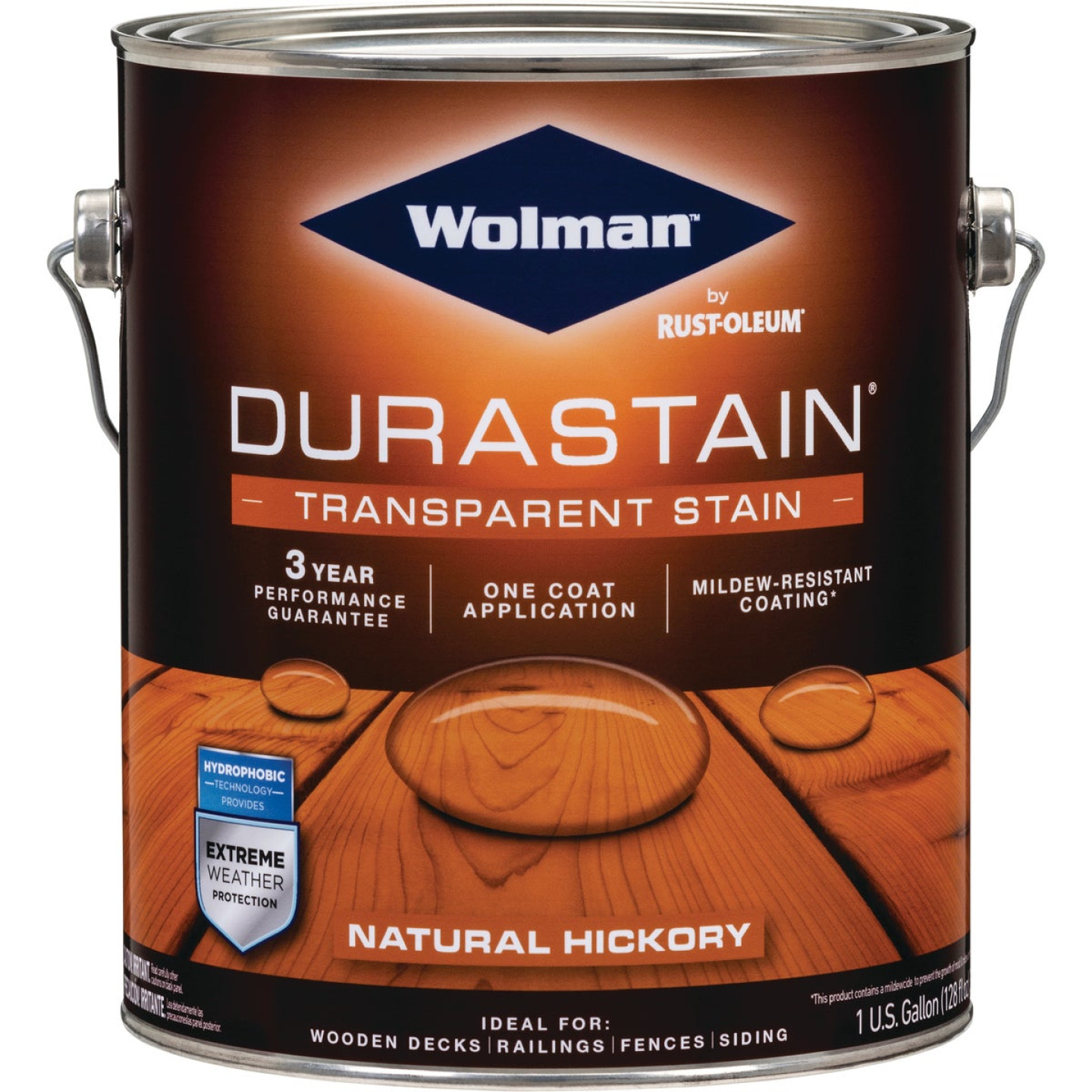 Wolman RainCoat One Coat Transparent Exterior Stain, Natural Hickory, 1 Gal. Image 1