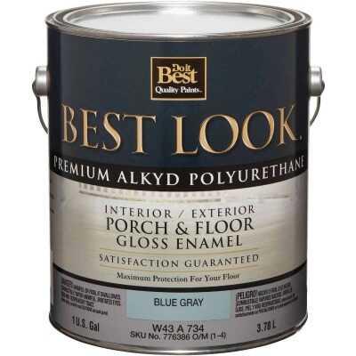Best Look 1 Gal. Blue Gray Polyurethane Gloss Porch & Floor Enamel