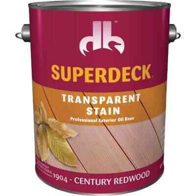 Duckback SUPERDECK Transparent Exterior Stain, Century Redwood, 1 Gal.