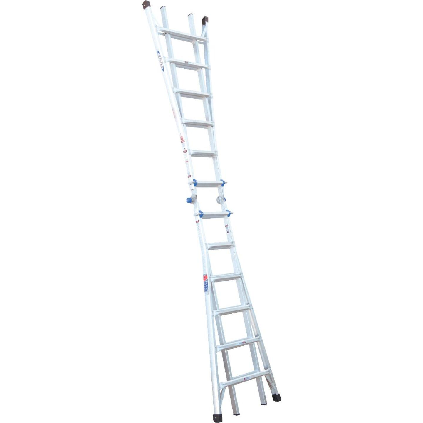 Werner 26 Ft. Aluminum Multi-Position Telescoping Ladder with 300 Lb. Load Capacity Type IA Ladder Rating Image 6