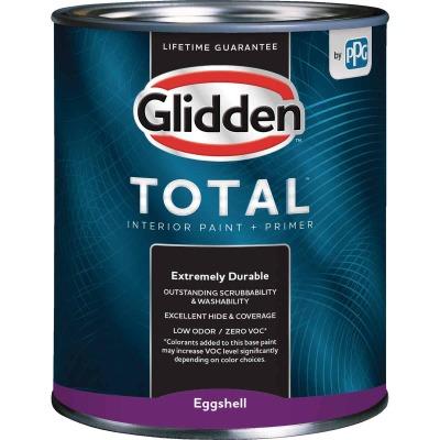 Glidden Total Interior Paint + Primer Eggshell Midtone Base Quart