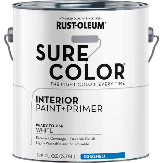Simply Home Eggshell Pure White Interior Wall Paint, Gallon
