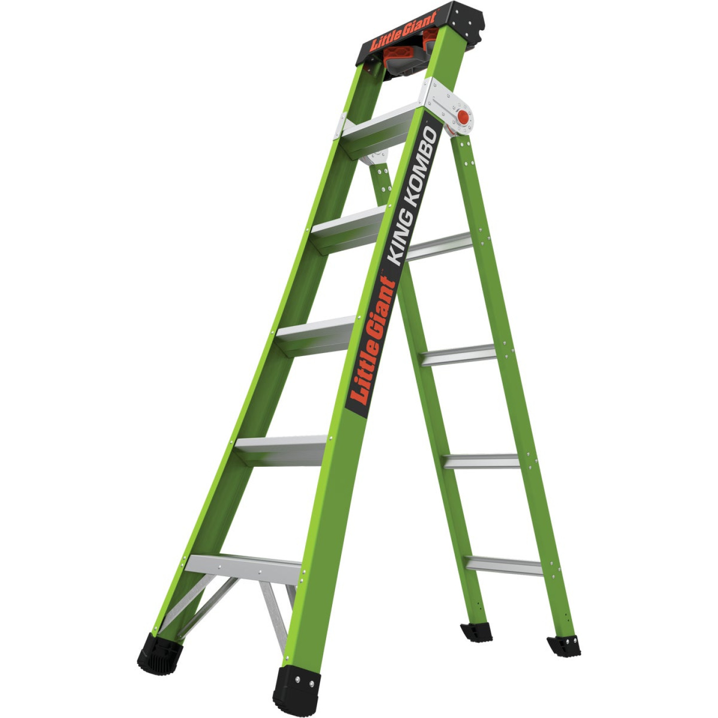 Little Giant King Kombo 6 Ft. To 10 Ft. 3-N-1 All Access Fiberglass Ladder With 375 Lb. Load Capacity Type 1AA Ladder Rating Image 1