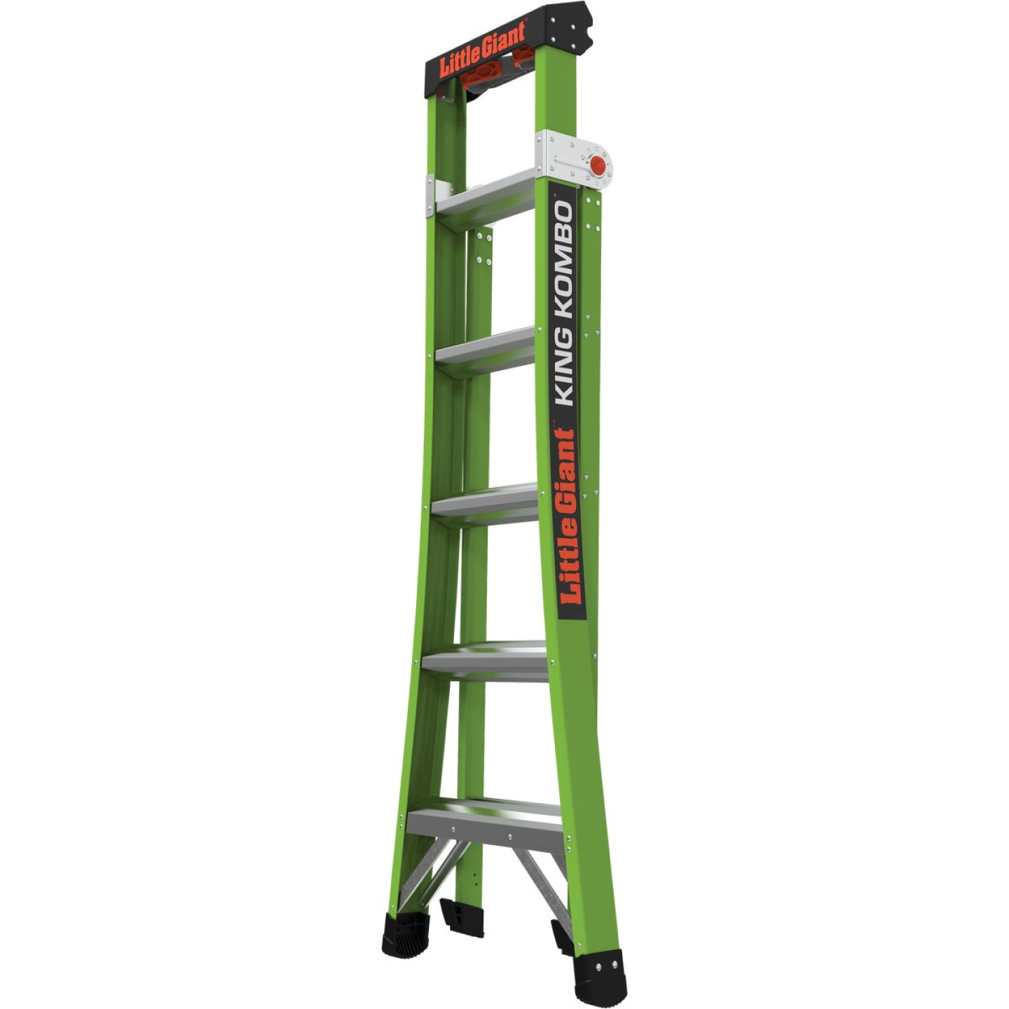 Little Giant King Kombo 6 Ft. To 10 Ft. 3-N-1 All Access Fiberglass Ladder With 375 Lb. Load Capacity Type 1AA Ladder Rating Image 3
