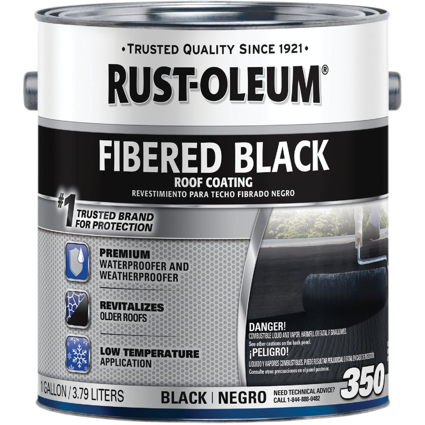 Rust-Oleum 350 1 Gal. Fibered Black Roof Coating Image 1
