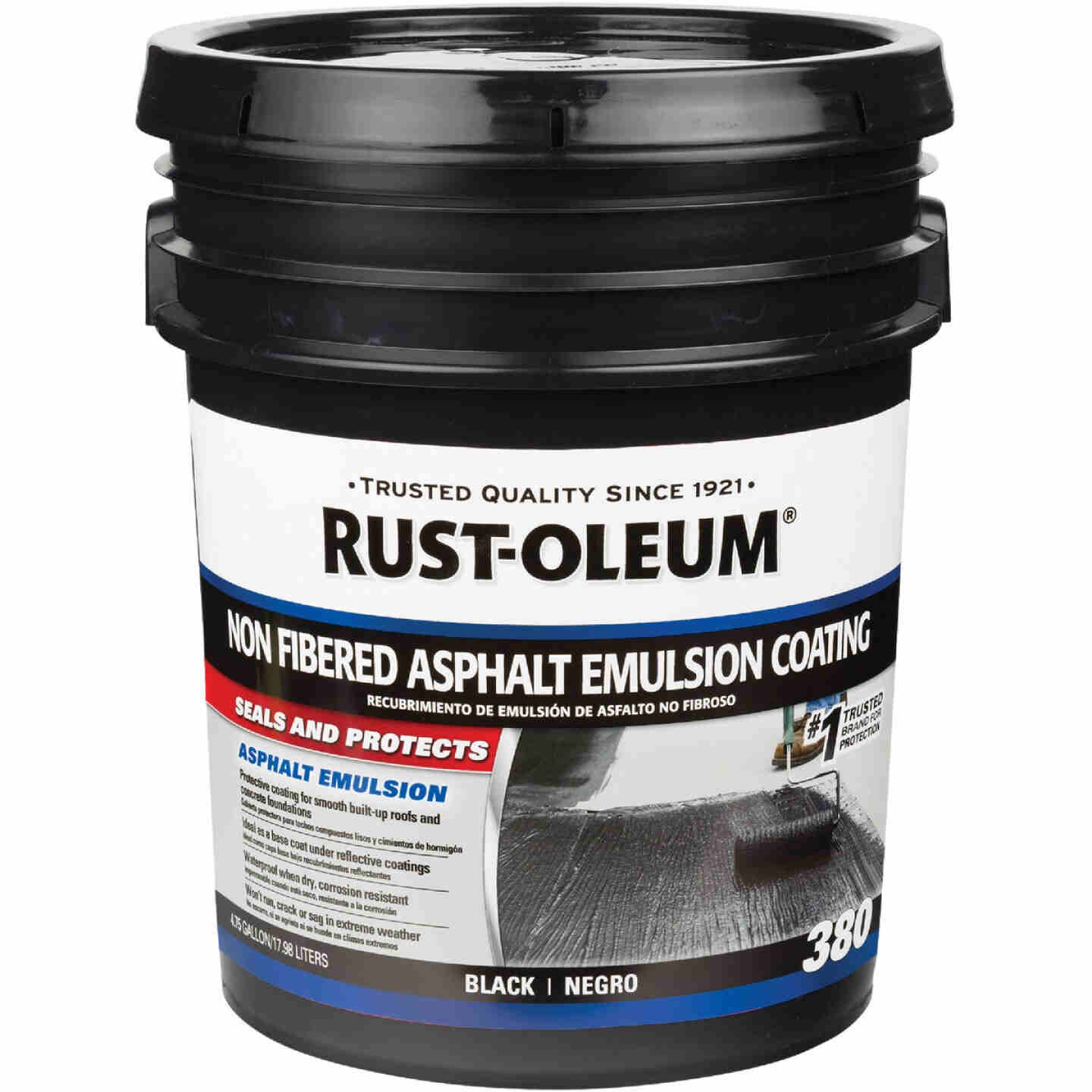 Rust-Oleum 380 5 Gal. Non-Fibered Asphalt Emulsion Coating Image 1