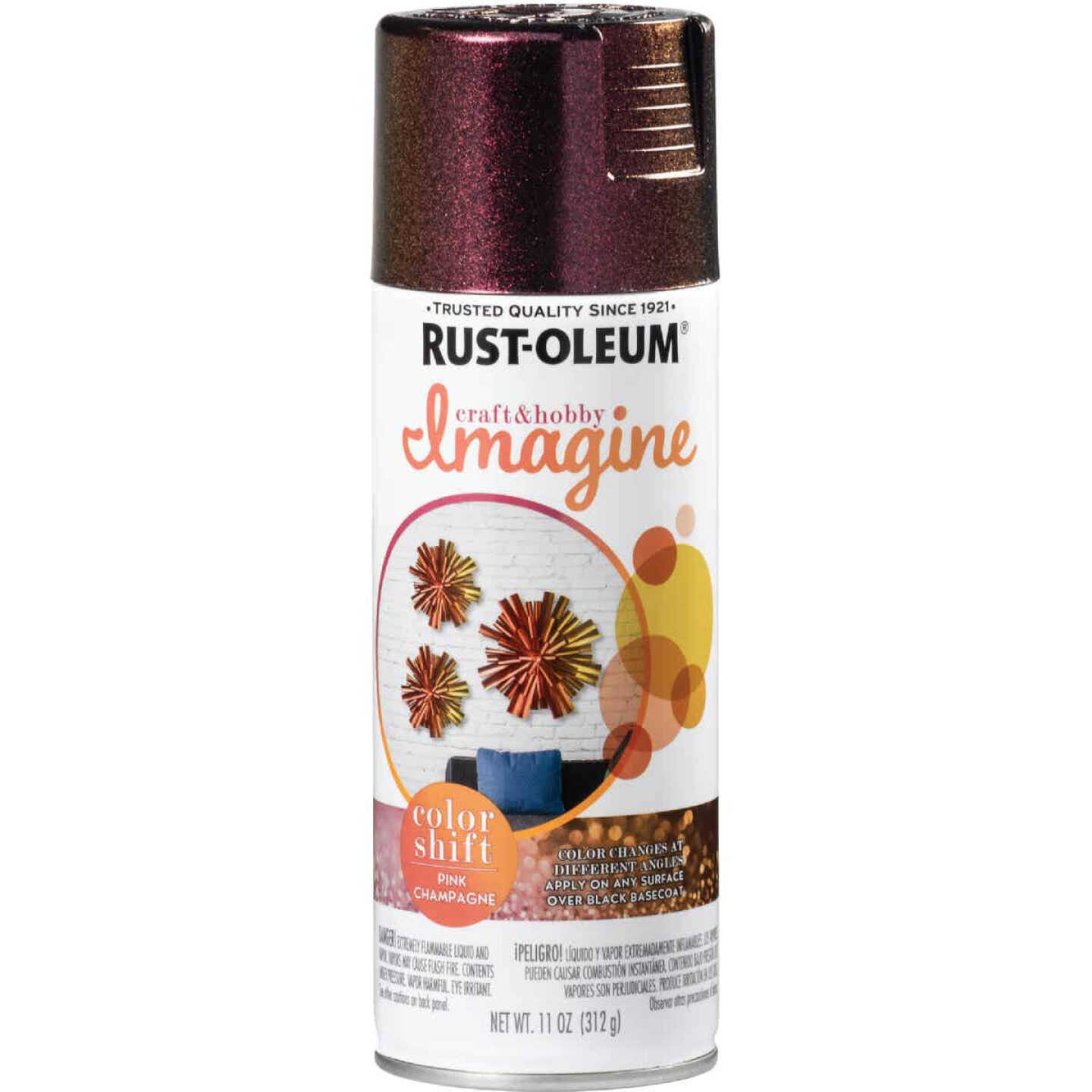Rust-Oleum 11 Oz. Champagne Pink Imagine Craft & Hobby Color Shift Spray Paint Image 1