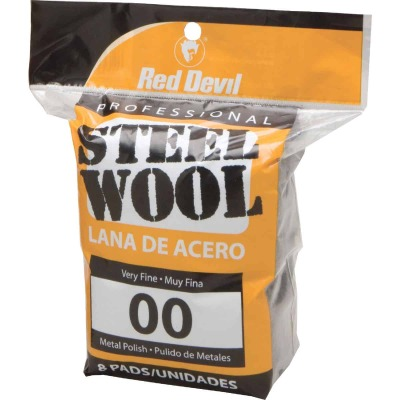 Red Devil #00 Steel Wool (8 Pack)
