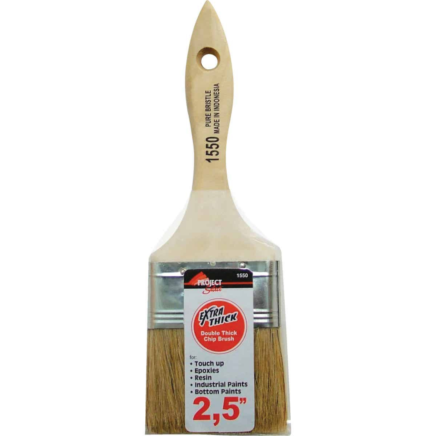 Project Select 2-1/2 In. Double Thick Chip Paint Brush Image 1