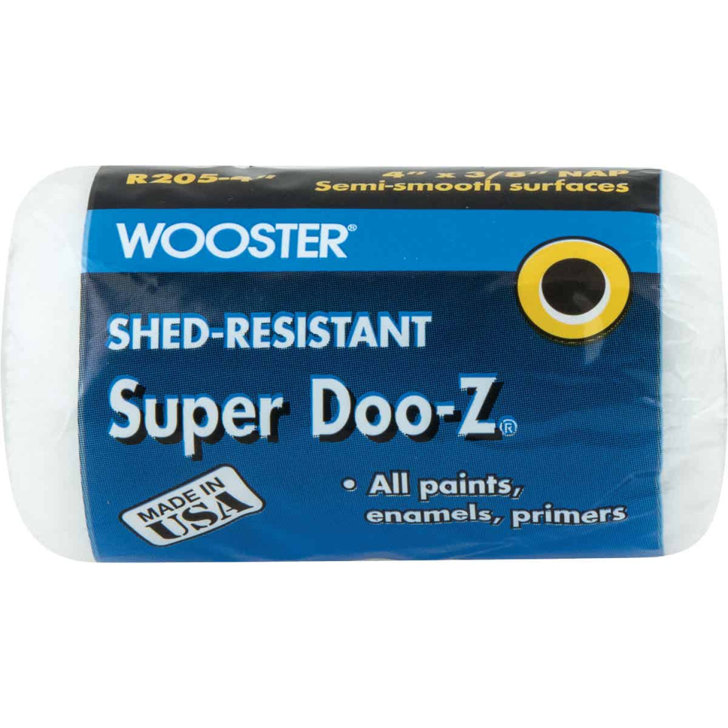 Wooster Super Doo-Z 4 In. x 3/8 In. Woven Fabric Roller Cover Image 1