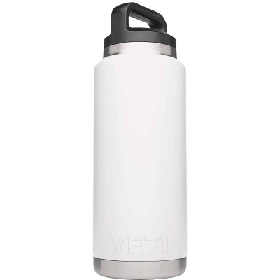 Yeti Rambler 36 Oz. White Stainless Steel Insulated Vacuum Bottle