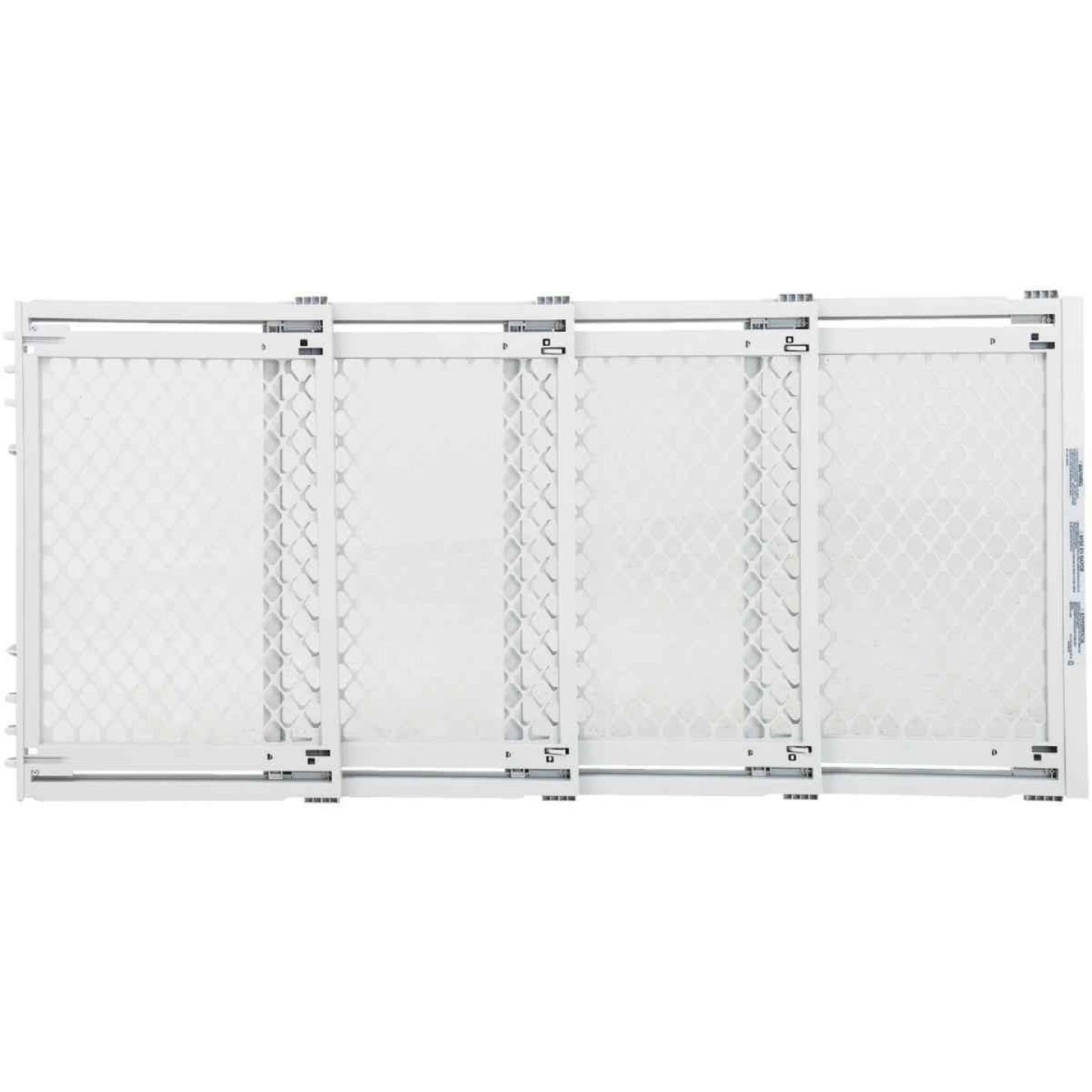 North States 22 In. to 62 In. W. White Plastic Extra Wide Pet Gate Image 1