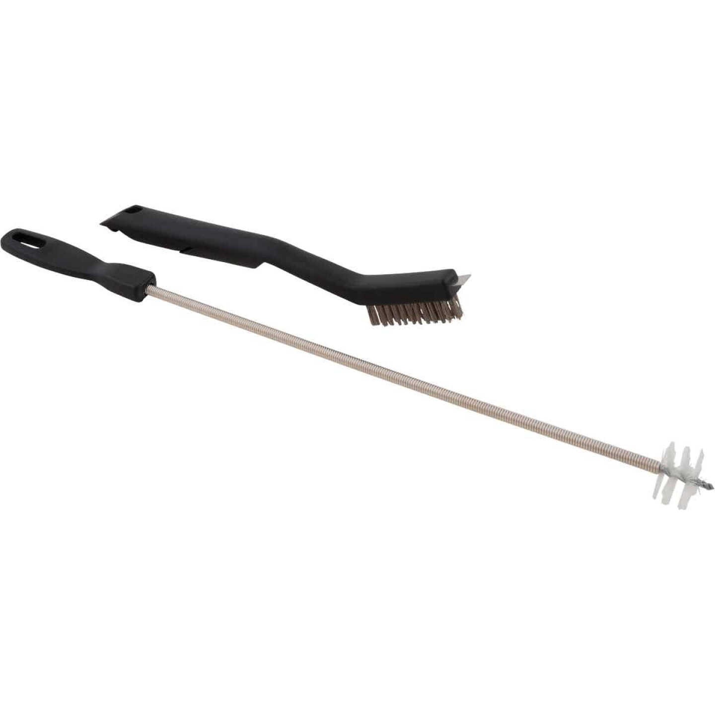 GrillPro 10-1/2 In. Resin Handle Venturi Tube Cleaning Brush & Maintenance Set Image 1