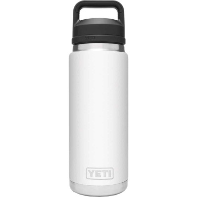 Yeti Rambler 26 Oz. White Stainless Steel Insulated Vacuum Bottle with Chug Cap