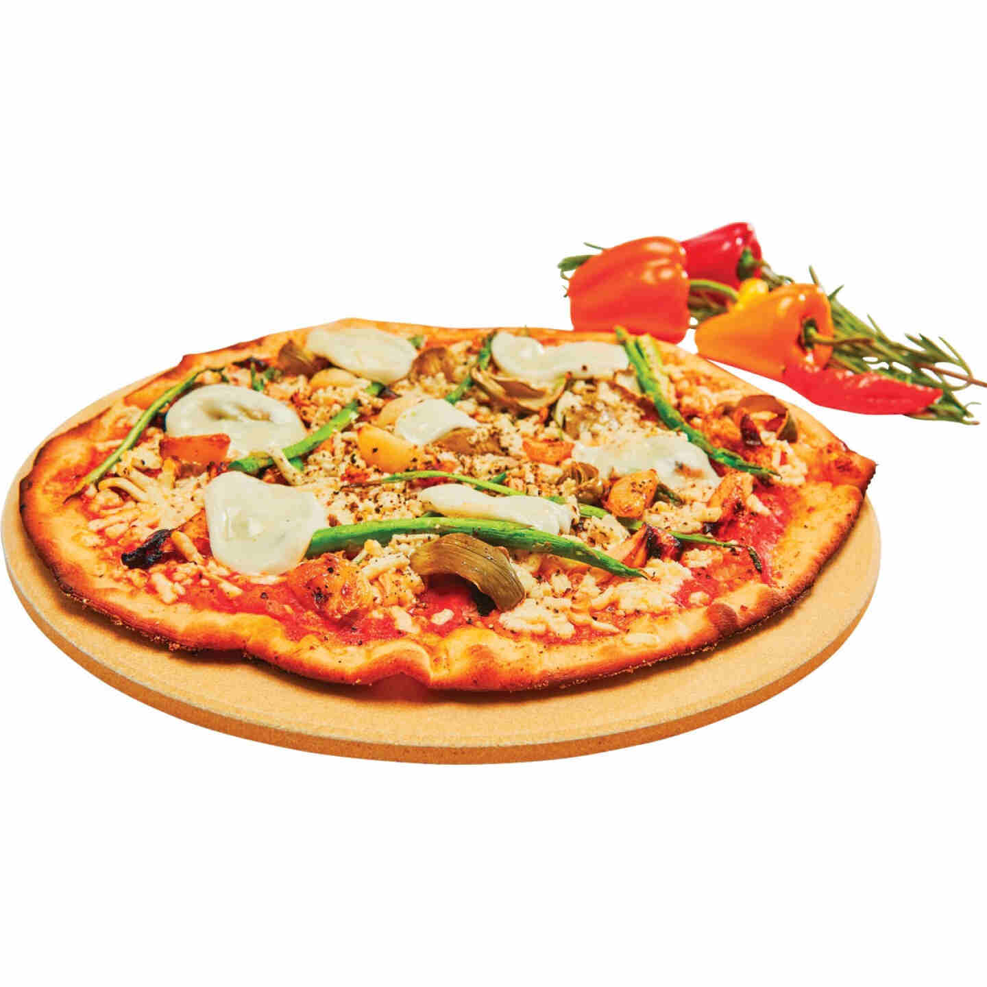GrillPro 13 In. Ceramic Composite Pizza Stone Image 2