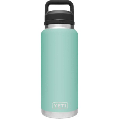 Yeti Rambler 36 Oz. Seafoam Stainless Steel Insulated Vacuum Bottle with Chug Cap