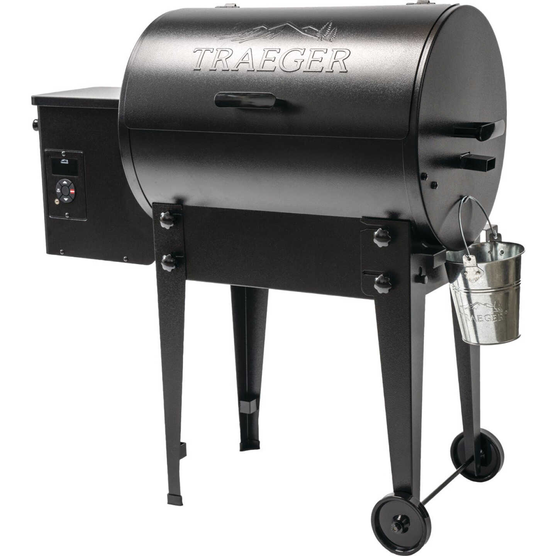 Traeger Tailgater 20 Black 19,500 BTU 300 Sq. In. Wood Pellet Grill Image 1