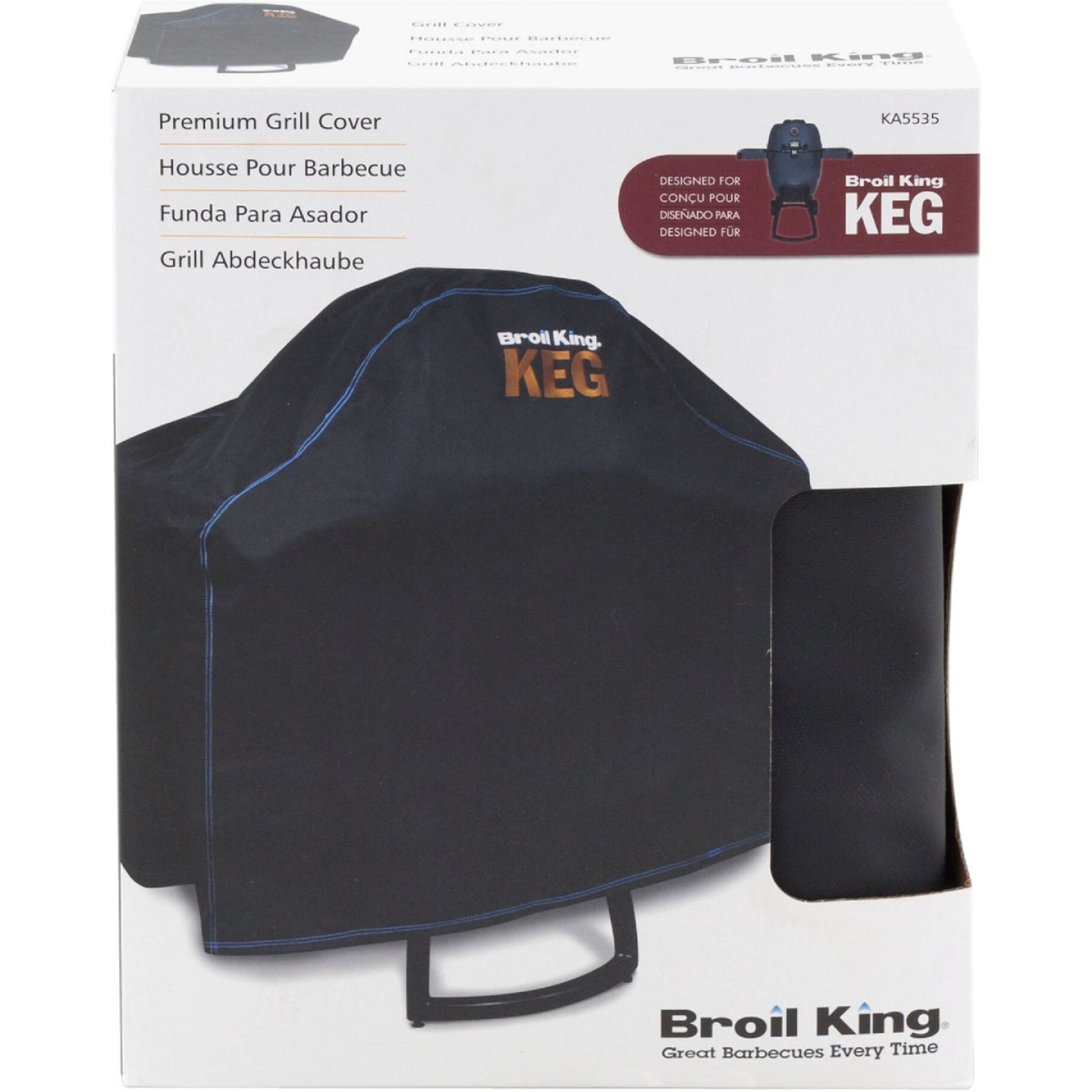 Broil King Keg 5000 45 In. Black PVC/Polyester Grill Cover Image 2