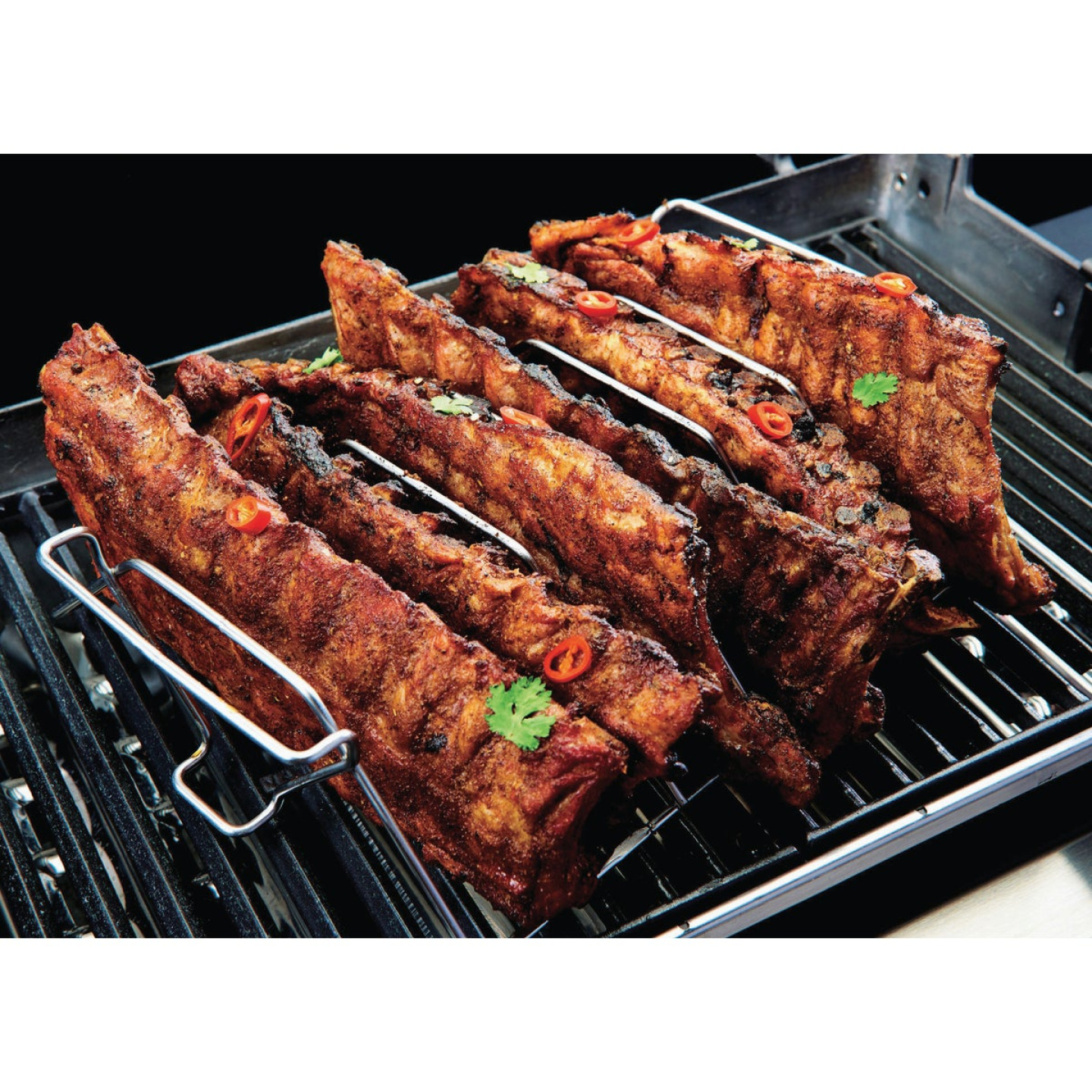 GrillPro 15.5 In. Stainless Steel Rib & Roast Grill Rack Image 4